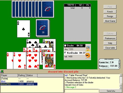 free online rummy 500 game