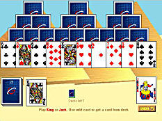 play online pyramids solitaire